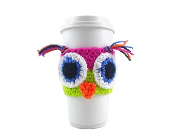 Crochet Owl Travel Mug Sleeve PATTERN FREE Printable
