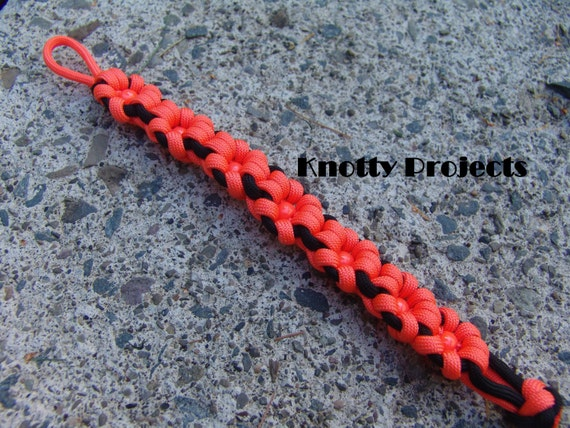 550 Paracord Snake Weave Survival Necklace Black Widow// Black 21 inches