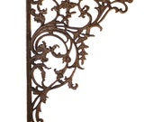 Cast Iron Wall Bracket Large 15inch Leaf Victorian Style - The Kings Bay