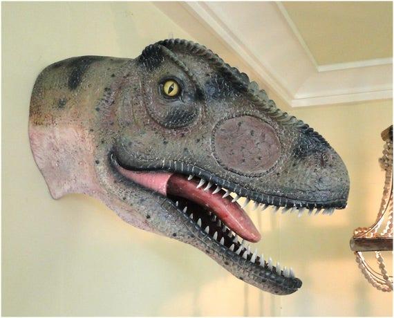 De Jurassic 24 Allosaurus Statue Pouces Tête Sculpture Dinosaure Park Mural vnymP0ON8w