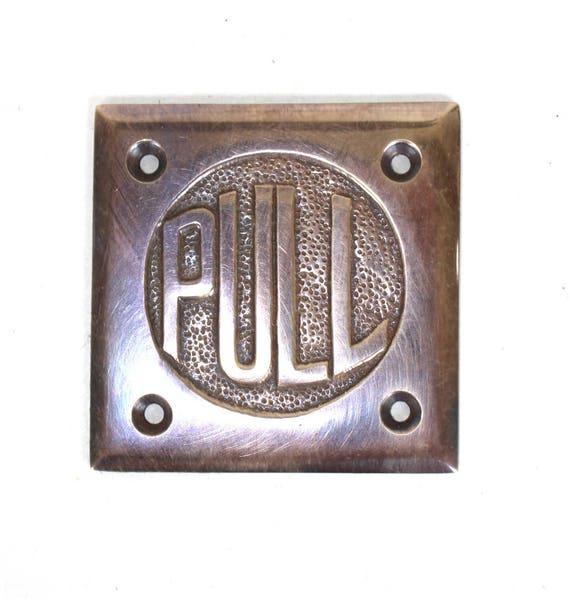 Small Antique Steel Door Plate