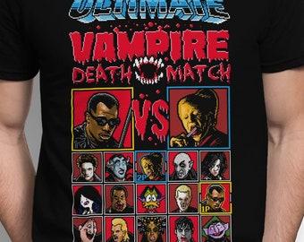 Vampire Death Match T-SHIRT / Retro Gaming / Movies / 8-Bit / Horror / Pixels / Tank Top / Unisex