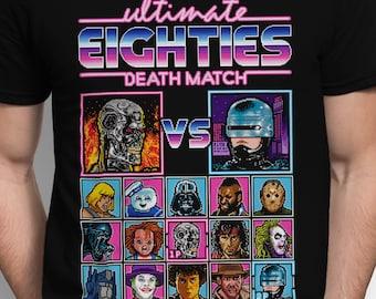 Eighties Death Match T-SHIRT / Retro Gaming / Movies / 8-Bit / Fighter / Pixels / Tank Top / Unisex