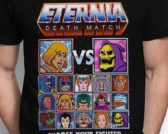 Eternia Death Match T-SHIRT / Scifi / Retro Gaming / Eighties / Unisex / Tanktop