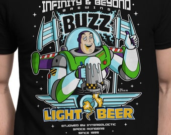Lightly Buzzed T-SHIRT / Beer / Funny Alcohol / Buzz / Unisex