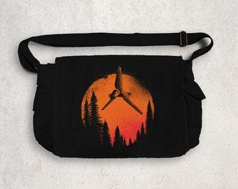Sunset MESSENGER BAG / Shuttle / Strike Team / Scifi / Forest