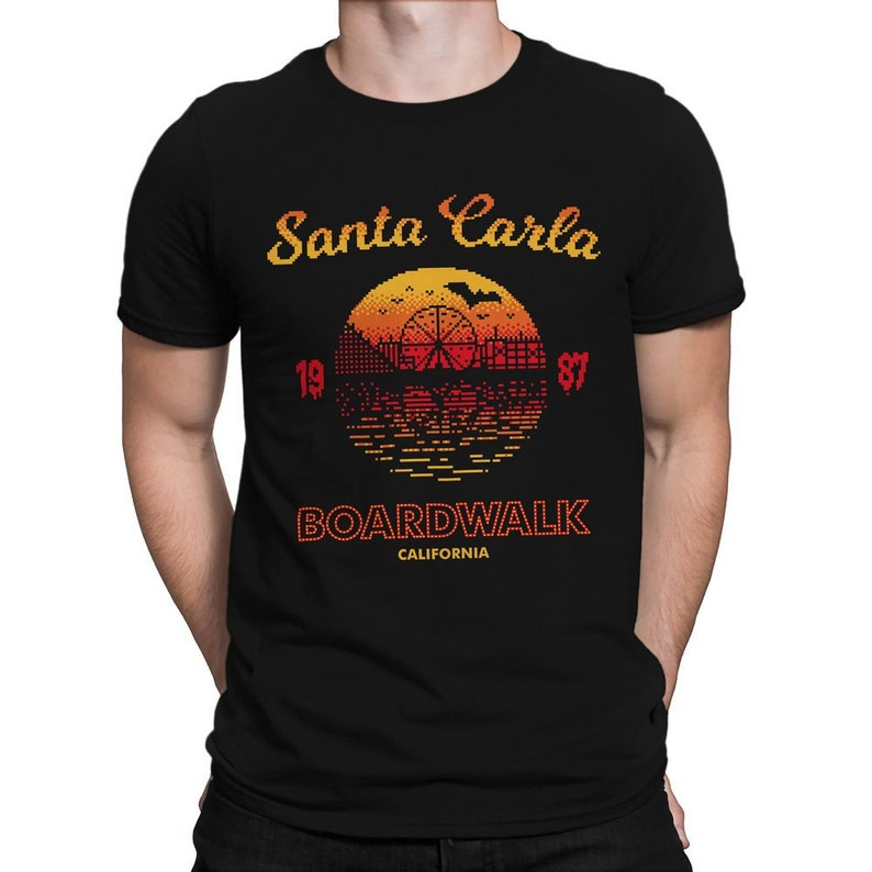 Santa Carla Boardwalk T-shirt for Men or Women. S to 2XL