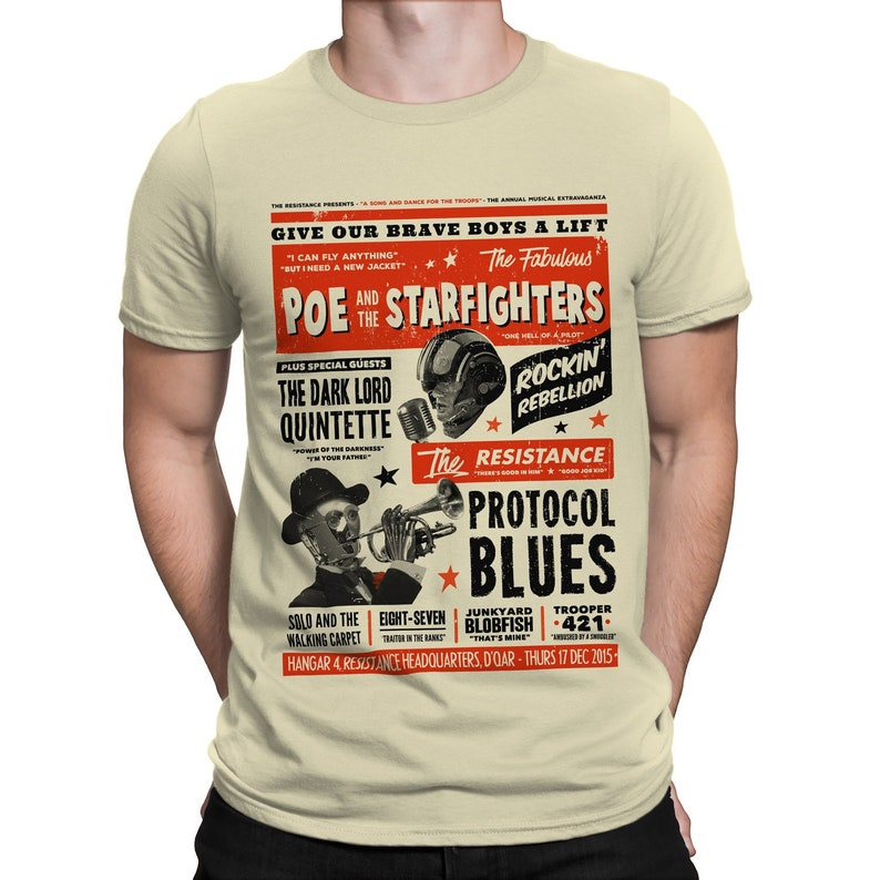 Poe and the Starfighters T-SHIRT / Vintage / TFA / Scifi / image 0