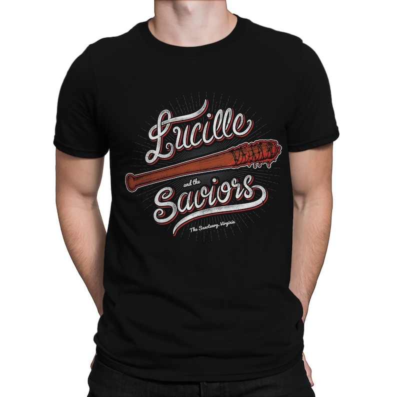 1187c8570 Lucille and the Saviors Zombies T-SHIRT / TV Series / Nerdy / | Etsy