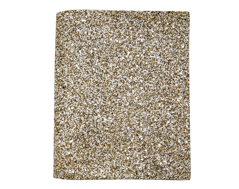 Silver Gold Chunky Glitter FULL Sheets 8 x 13 inches Chunky Glitter Cricut Leather Sheets Synthetic Leather Glitter Fabric Sheet