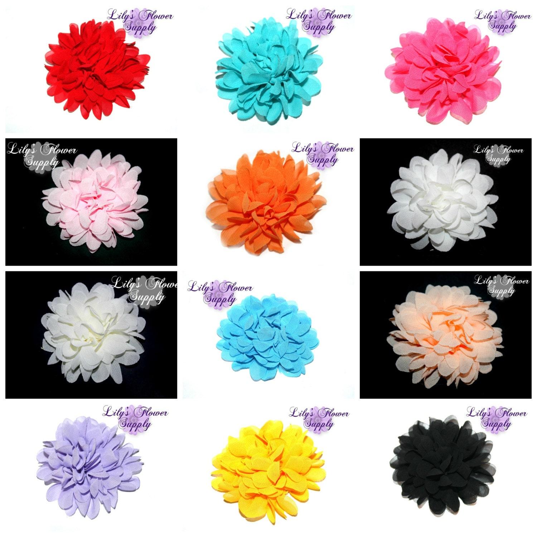 Chrysanthemum Flower Light Pink Chiffon Flower Chiffon Etsy