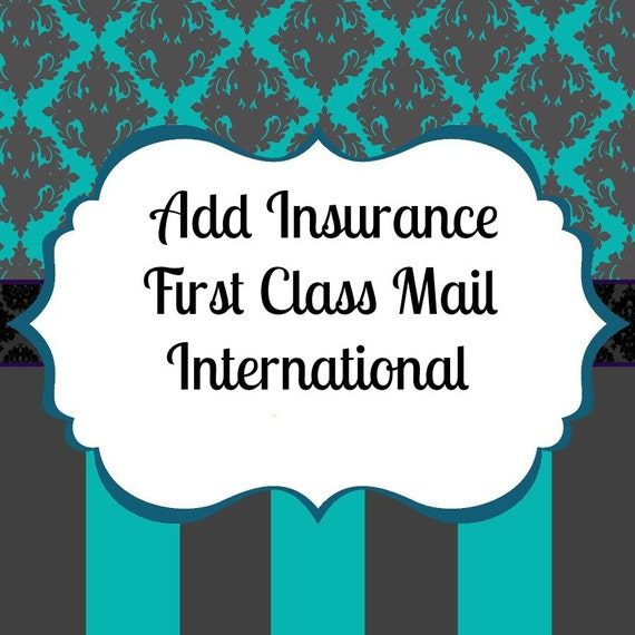 Insurance Add On For USPS First Class Packages International