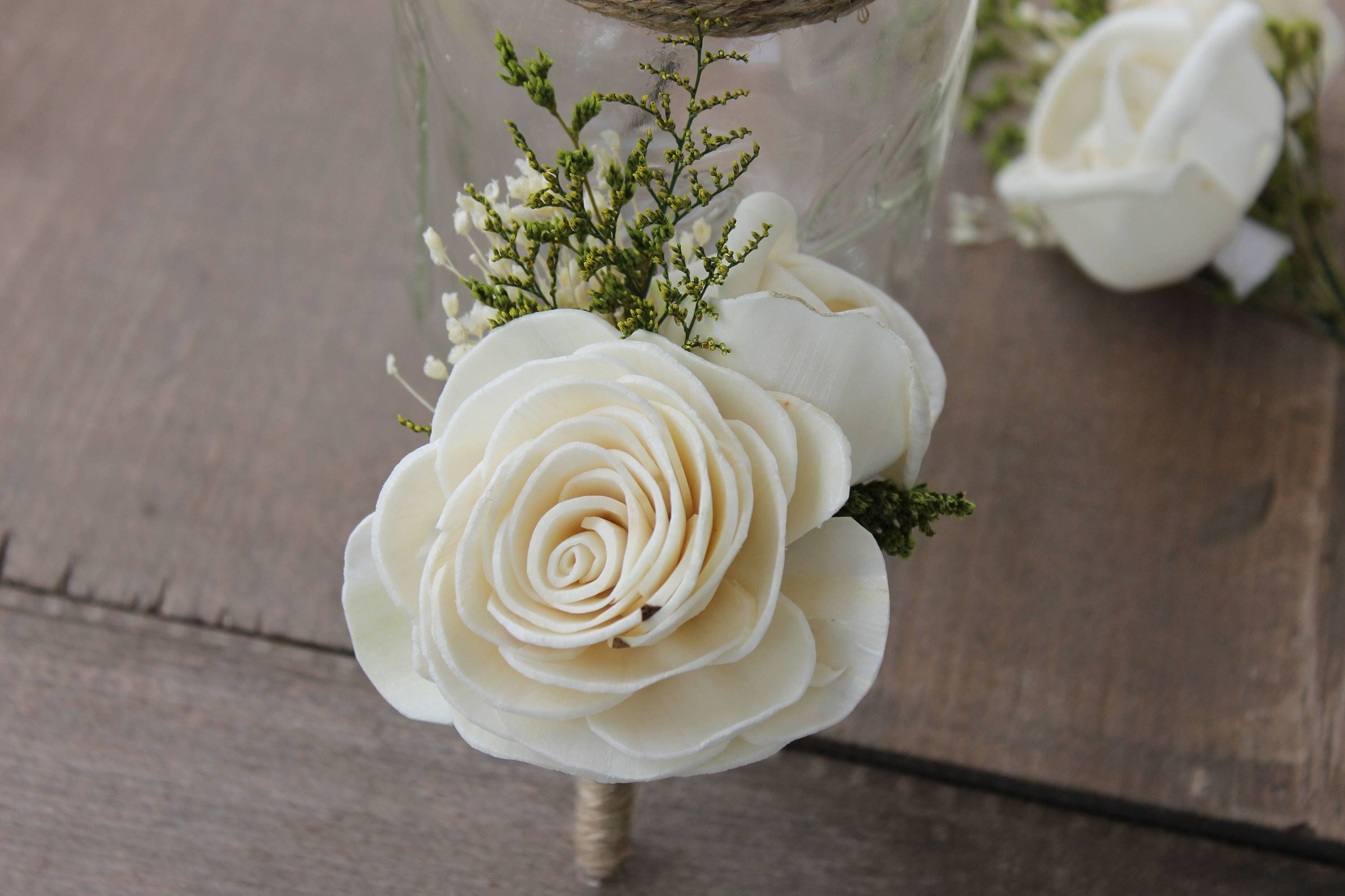 Groom Boutonniere Ivory Sola Flower Boutonniere Ivory Etsy