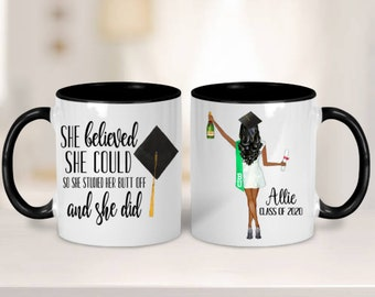 College Graduation Gift for Her, Personalized Graduation Gift, College Graduate, Daughter Graduation Gift, Graduate Gift, Class of 2021 Mug