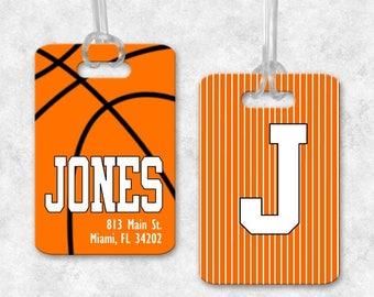 Basketball Luggage Tag, Basketball Backpack Tag, Basketball Bag Tag, Luggage Tag Personalized, Monogrammed Bag Tag, Basketball Gifts