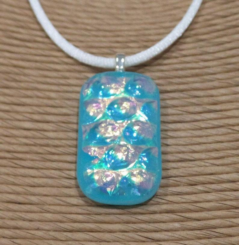 Dichroic Glass Art Jewelry Minimalist Pendant Glass Point Pendant Summer Jewelry Yellow /& Green Fused Glass Pendant Tribal Pendant