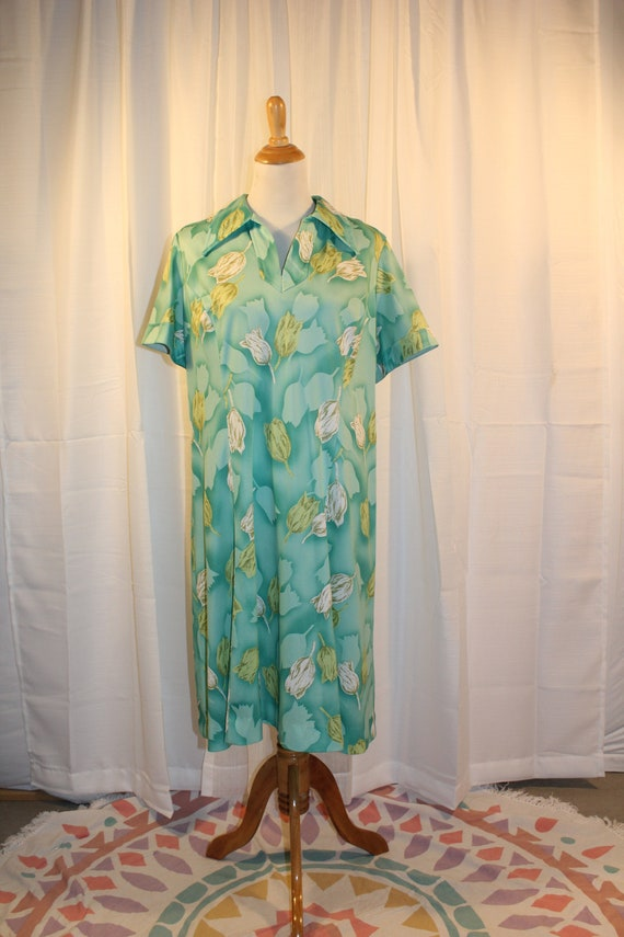 60's Tulip Print Day Dress - image 4