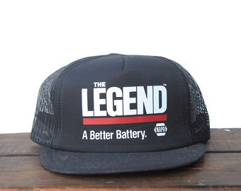 0f6d40264c5 Vintage Napa The Legend Battery Auto Parts Cars Garage Trucker Hat Snapback  Baseball Cap