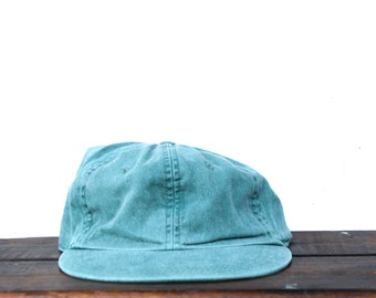 d20a6f218e8ac Vintage Baseball Cap Unstructured Strapback Hat 90 s Hat Cap Washed Out  Forest Green Blank Minimal