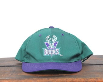 timeless design 8f6f4 1851b ... good vintage small child youth size 90s milwaukee bucks nba basketball snapback  hat baseball cap 4eaa9