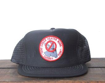 94e6e49e Vintage Trucker Hat Snapback Hat Baseball Cap Arco Cherry Point Coker  Heater Work No Donkeys Oil Gas Station Pacific Northwest Patch