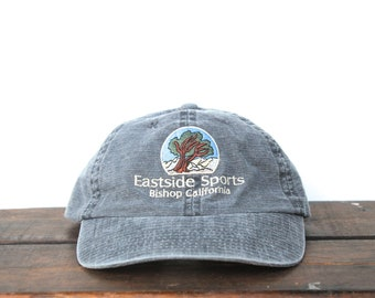 d0ec8686dbb95 Vintage Hat Cap Washed Out Eastside Sports Bishop California Tree  Unstructured Strapback Hat Baseball Cap