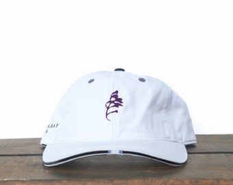 e3ced4e25d84b Vintage Minimal Tree Leaf Logo Unstructured Strapback Hat Baseball Cap