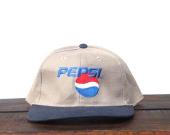 b23d1df654a Vintage 90 s Pepsi Cola 90 s Logo Soda Pop Drink Purple Strapback Hat  Baseball Cap