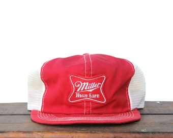 c40569f2d9567 Vintage 80 s Miller High Life Beer Lite K Brand Products Trucker Hat  Snapback Baseball Cap Patch Made In USA