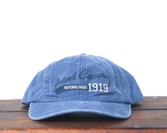 04026760d33 Vintage 90 s Hat Cap Washed Out Grand Canyon Arizona National Park  Unstructured Strapback Hat Baseball Cap