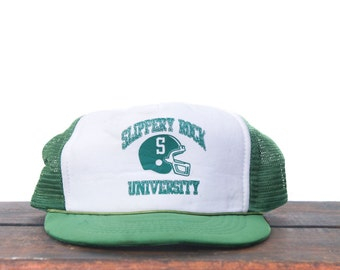 Vintage Trucker Hat Snapback Hat Baseball Cap Slippery Rock University  Football 9f932eca63b8
