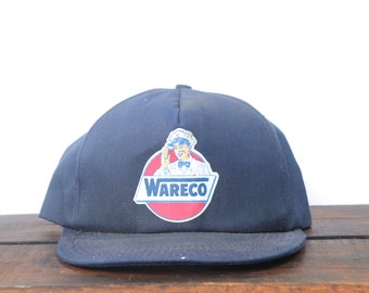 707cd4e5 Vintage Trucker Hat Snapback Hat Baseball Cap Wareco Oil Gas Station Sign  Made In USA