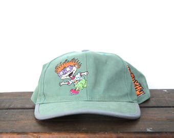 Vintage 90 s Hat Cap Rugrats Chuckie Nickelodeon Cartoon Character Youth  Size Small Snapback Hat Baseball Cap 41c44f606cdd