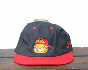 d9dd4925e78 Vintage Deadstock NWT New 90 s Cool Guy Garfield Fat Cat Comic Lasagna  Mondays Snapback Hat Baseball Cap