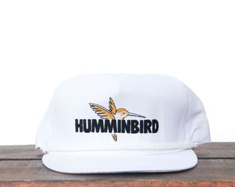 86bd06a2 Vintage Humminbird Fish Finder Sonar Marine Electronics Fishing Fish Boat  Angler Trucker Hat Snapback Baseball Cap USA Made