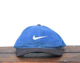 bbb6c816b Vintage 90's Distressed Faded Nike Athletic Apparel Swoosh Logo Snapback Hat  Baseball Cap