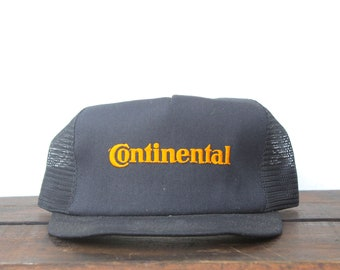 48ea02e2c6d Vintage Continental Tires Car Racing Nascar Trucker Hat Snapback Baseball  Cap Made In USA pxq
