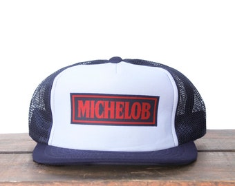 Vintage Trucker Hat Snapback Hat Baseball Cap Michelob Beer Light Anheuser  Busch Drinking Alcohol pxq 2a758beb37dc