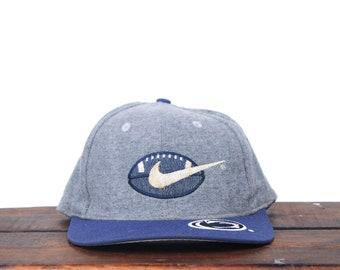 4681b7fa4f6 Vintage 90 s Nike Penn State Nittany Lions College Football NCAA Snapback  Hat Baseball Cap