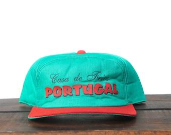 eafc9354225 Vintage Trucker Hat Snapback Hat Baseball Cap Casa De Frios Portugal  Tourist Europe xrz