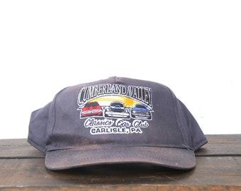 Vintage 90 s Distressed Cumberland Valley Classic Car Club Drag Racing Hot  Rod SnapBack Hat Baseball Cap 270dfdb389e0