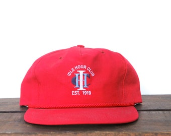 65362cdaf78c1 Vintage Trucker Hat Strapback Hat Baseball Cap Minimal Idle Hour Club Golf  Course Country Club