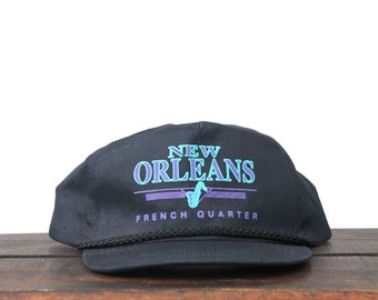 219bcb7c Vintage Distressed Trucker Hat Snapback Hat Baseball Cap Bourbon Street  French Quarter New Orleans Louisiana Jazz