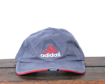 62f7d6283f7 Vintage 90 s Hat Cap Minimal Adidas Trefoil Athletic Clothing Unstructured  Strapback Hat Baseball Cap