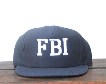 Vintage FBI Federal Bureau Of Investigation Crime Scene Investigator  Trucker Hat Snapback Baseball Cap 28648126067