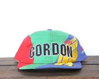 729d50c706d Vintage Trucker Hat Snapback Hat Baseball Cap Great Jeff Gordon Rainbow  Livery Dupont Nascar Racing 24 Primary Color Block