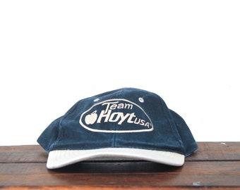 12f96fe5 Vintage 90's Hat Cap Team Hoyt Archery Deer Hunting Buck Bow & Arrow  Strapback Hat Baseball Cap