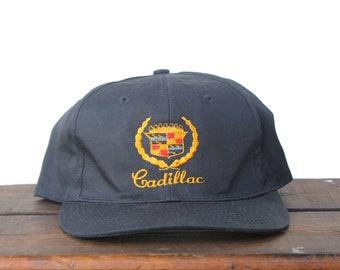 d0de8533757fa Vintage Snapback Trucker Hat Baseball Cap Cadillac Luxury Car Vehicle  Automobile CTS Escalade
