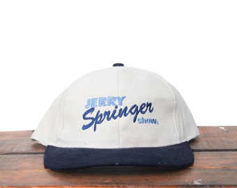 149459c33dd Vintage 90 s The Jerry Springer Show TV Television Drama Strapback Hat  Baseball Cap