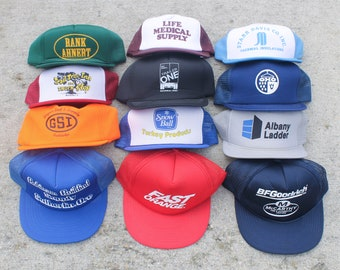 8053264868a Vintage Trucker Hat Variety Pack One Dozen Random Snapback Baseball Caps  Lot Collection Bulk Wholesale